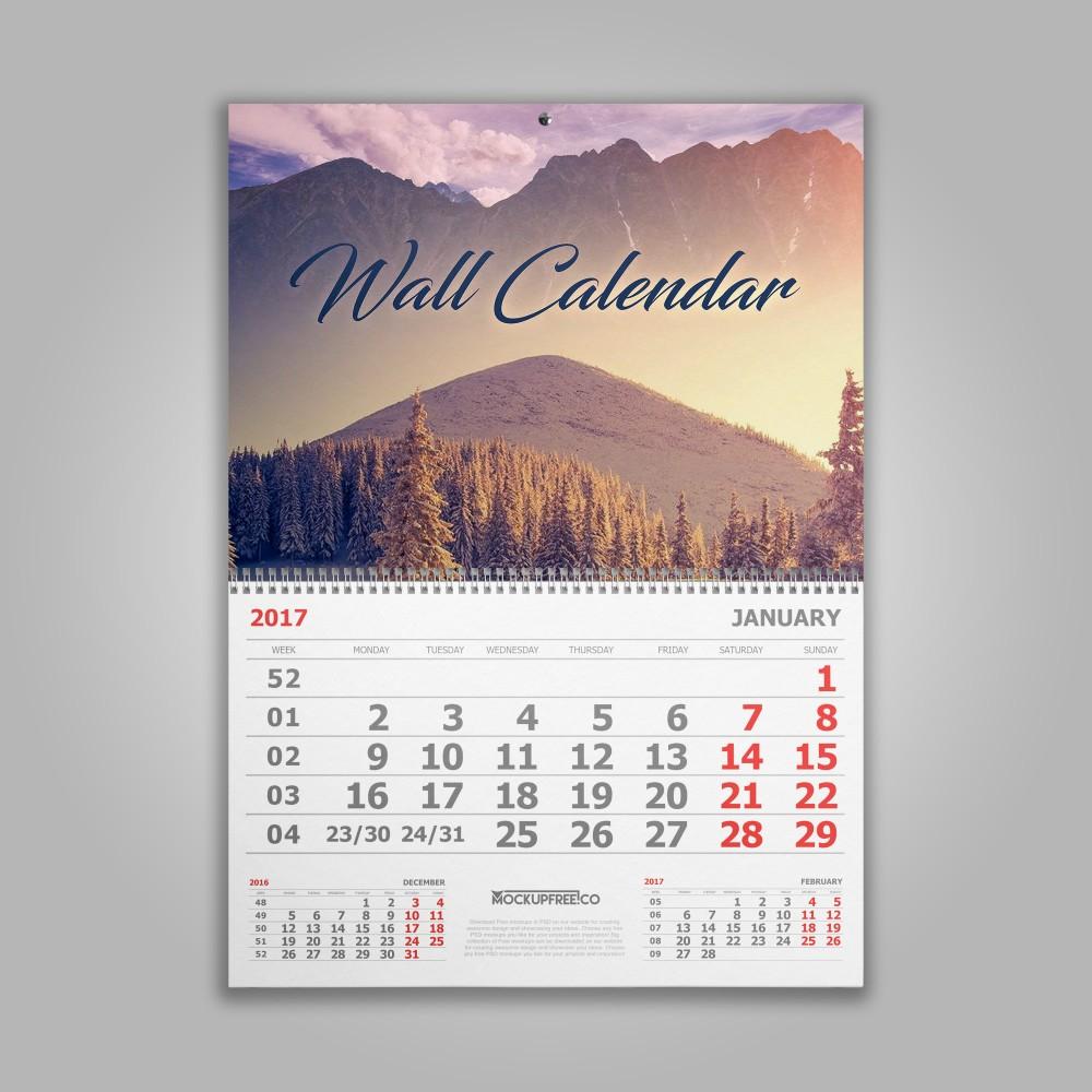 Calendar monobloc