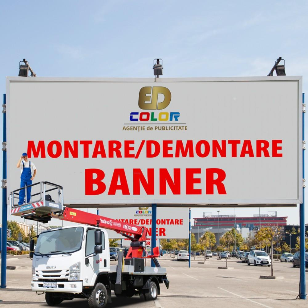 Montare/demontare banner